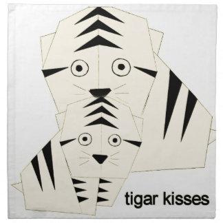 tiger kisses napkin
