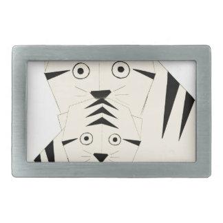 tiger kisses rectangular belt buckles