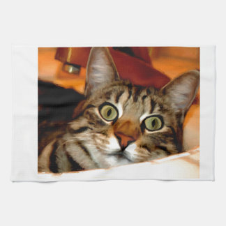 Tiger Kitty Tea Towel