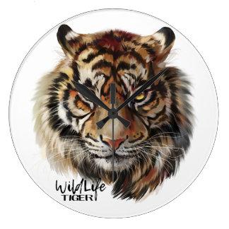 """Tiger"" Large Clock"