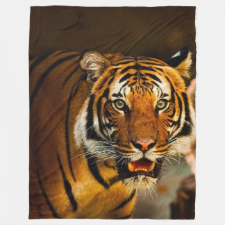 Tiger Large Fleece Blanket