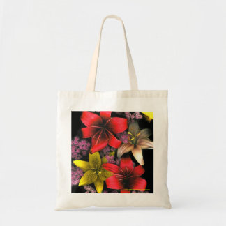 Tiger Lilies and Spirea Tote Bag