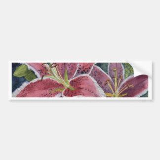 Tiger Lilies Bumper Sticker