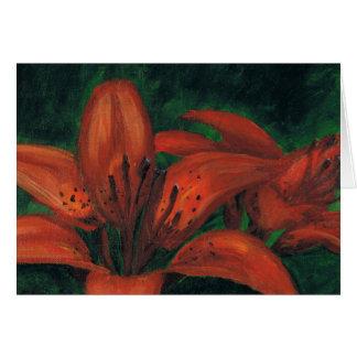 Tiger Lilies Card