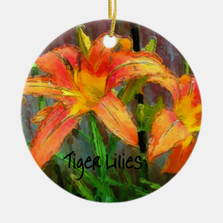 Tiger Lilies Christmas Ornament