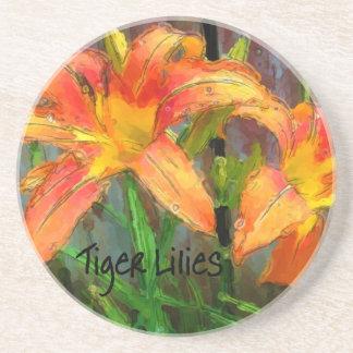 Tiger Lilies Beverage Coasters
