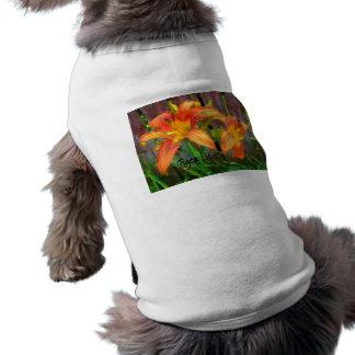 Tiger Lilies Dog Tshirt