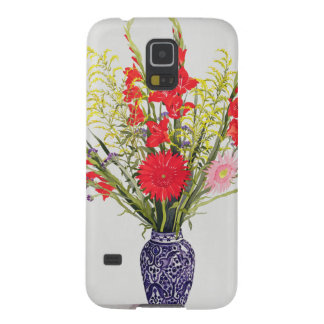 Tiger Lilies Gladioli and Scabious in a Blue Cases For Galaxy S5