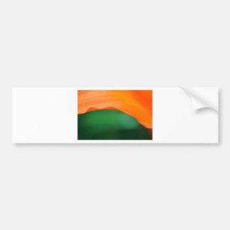 Tiger Lily Abstract Bumper Sticker