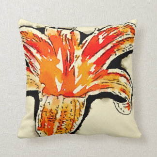 Tiger Lily accent cushion
