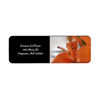 Tiger Lily Address Label