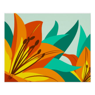 Tiger Lily Art Poster
