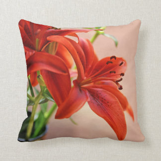 Tiger Lily Close Up Photograph Throw Cushion