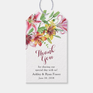 Tiger Lily Day Lily Wedding Thank You Gift Tags