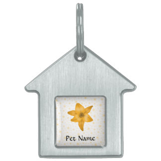Tiger Lily Flower. Pet Tag