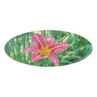 Tiger Lily Name Tag
