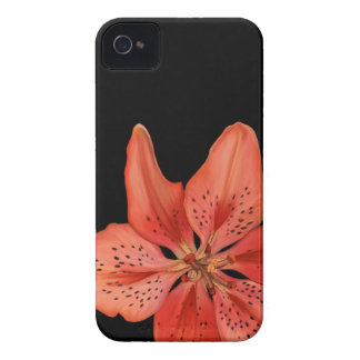 Tiger Lily Painting iPhone 4 Cases