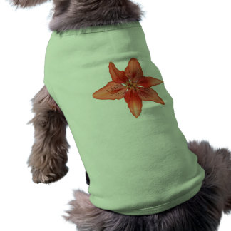 Tiger Lily Painting Dog T Shirt