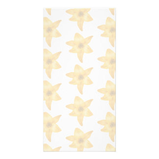Tiger Lily Pattern in Pastel Shades Photo Greeting Card