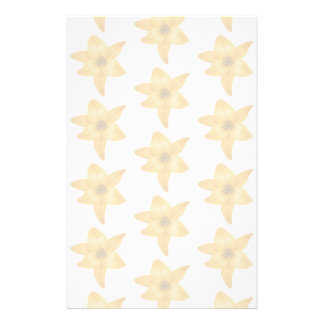 Tiger Lily Pattern in Pastel Shades. Stationery