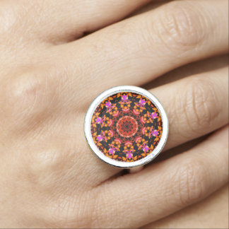 Tiger Lily Pattern Ring