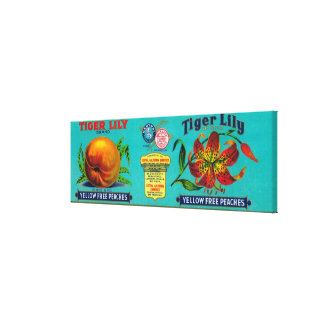 Tiger Lily Peach Label Canvas Print