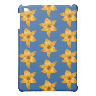 Tiger Lily Pern on Blue. Case For The iPad Mini