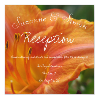 Tiger Lily Reception Card