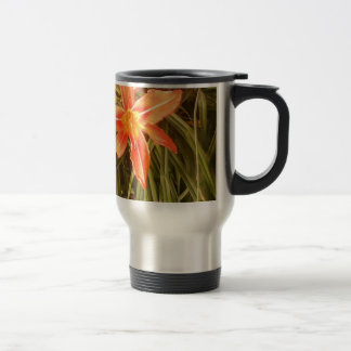 tiger lily stainless steel travel mug