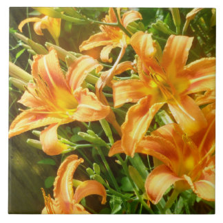 Tiger lily tile