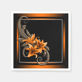 Tiger Lily Wedding Paper Napkin