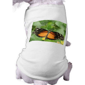 Tiger Longwing Butterfly Dog T Shirt