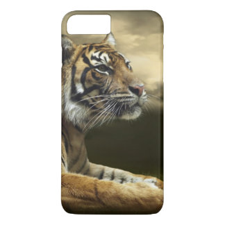 Tiger looking and sitting under dramatic sky iPhone 8 plus/7 plus case