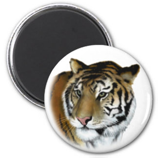 tiger 6 cm round magnet