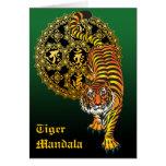 Tiger Mandala2 グリーティングカード