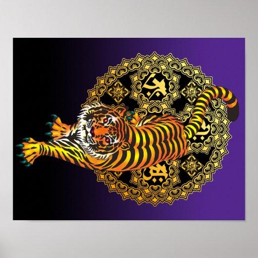 Tiger Mandala2 Poster