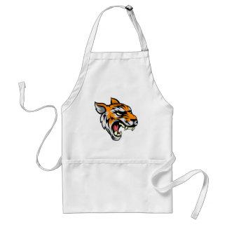 Tiger Mean Animal Mascot Standard Apron