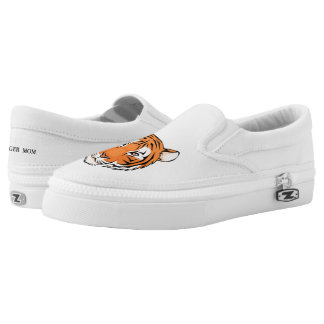 Tiger Mom!  Slip on Sneaker - simple white