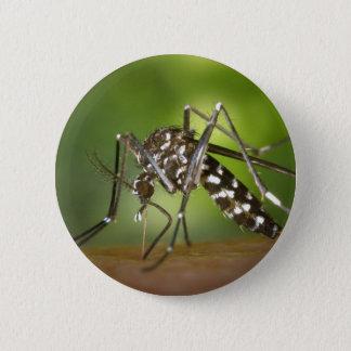Tiger mosquito 6 cm round badge