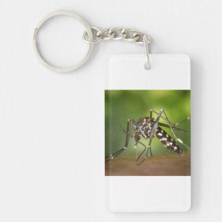 Tiger mosquito Single-Sided rectangular acrylic key ring