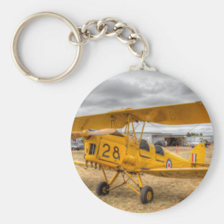 Tiger Moth 80Th Anniversary Fly-in Basic Round Button Key Ring
