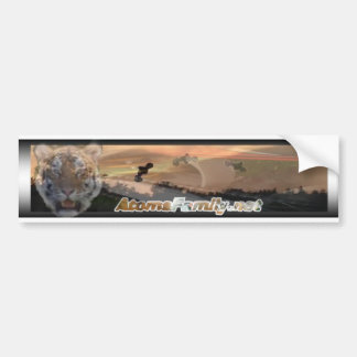 Tiger motocross bumper sticker