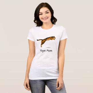 Tiger Mum Tshirt - Modern Leaping Tiger
