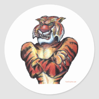 Tiger Muscle Classic Round Sticker