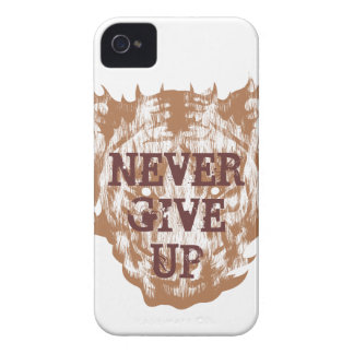 Tiger Never Give Up iPhone 4 Covers