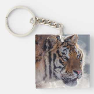 Tiger on a Cold Morning Key Ring