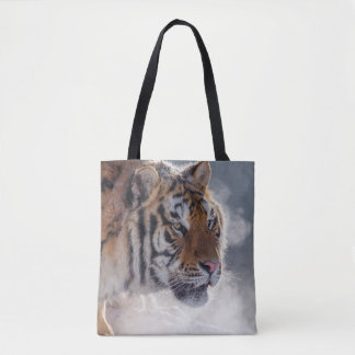 Tiger on a Cold Morning Tote Bag