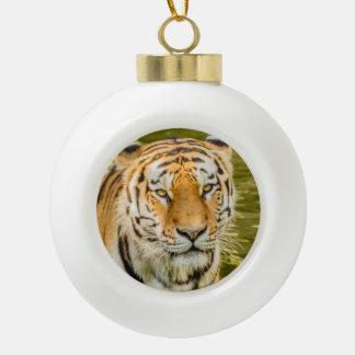 tiger on Ceramic Ball Ornament
