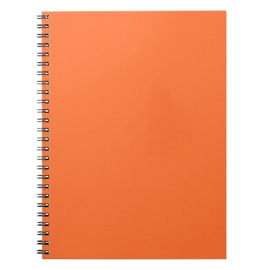 Tiger Orange Personalised Trend Colour Background Notebook