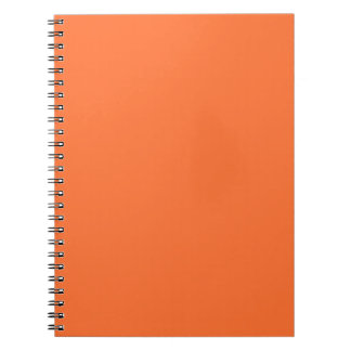 Tiger Orange Personalized Trend Color Background Notebook